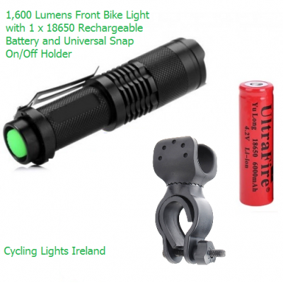 Performance 1,600 Lumens Bicycle Front Light
