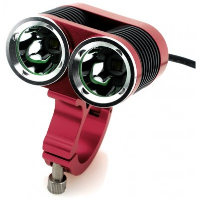 Bicycle Bright LED Light - 2 x CREE XML-T6 LEDs, 2400 Lumens