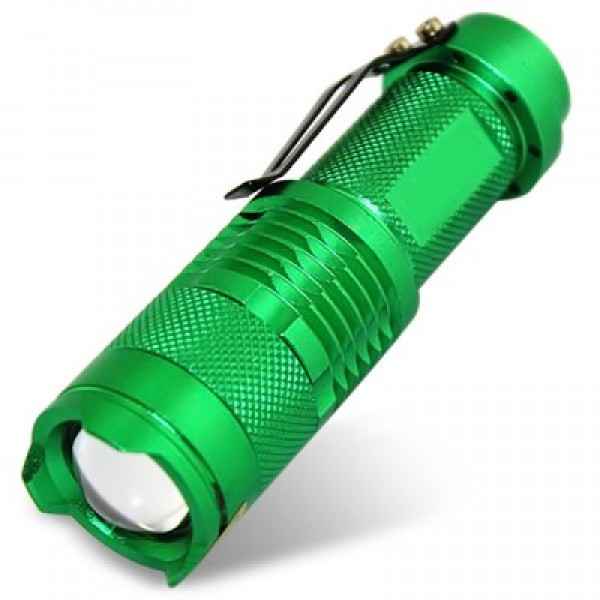 UltraFire SK68 300 Lumens Zoom LED Flashlight - Green