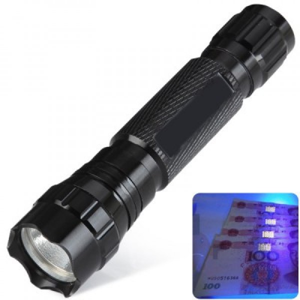 Ultrafire UV Ultraviolet Purple Flashlight 405nm