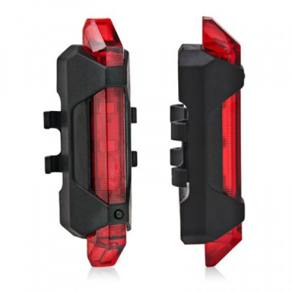 Water Resistant USB Rechargeable LED Bike Tail Light RED